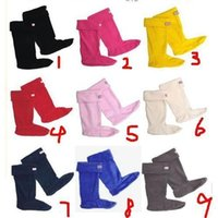 fleece socks - 2015 cheap High Quality Hunter Stockings Hunter boots socks Polar Fleece Knee High Socks Free to Mix Color Low Price Over