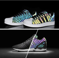 Wholesale cheap original ZX FLUX XENO Shoes reflective fluorescent men and women cheap zx new arrival xeno color shoes B24441 D69366