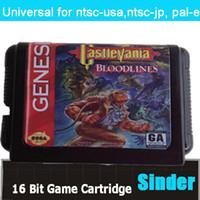 Wholesale Castlevania Bloodlines NTSC USA Game Cartridge Bit Big Black Game Card For Sega Mega Drive Genesis