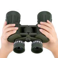 Militar Ejército táctico verde 10X50 122m / 1000m prismáticos de la lente del telescopio óptico con bolsa de Actividades para los deportes al aire libre D3321