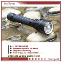 Wholesale High quality Lm x CREE XM L2 T6 LED Waterproof Scuba Diving Flashlight Underwater Waterproof Light Lamp
