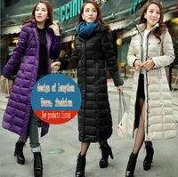 add down outerwear - Add long down jacket women cultivate one s morality new winter coat ms long thickening over the knee large yards eiderdown outerwear