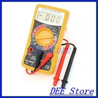 amp probe meter - AC DC Volt Amp Ohm Meter Digital Multimeter Gauge w Probe Leads
