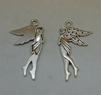 bag of charms - Angel pc bag of grams of x22mm antique silver colour alloy bead jewelry accessories