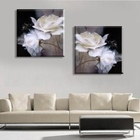 contemporary oil paintings - No Frame Hot Black And White Contemporary Canvas Oil Painting Abstract Decorative Wall Art Pictures
