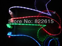 Wholesale On sale Brightness Enhanced Visible LED Light Micro USB Data Sync Cable for Samsung Note Galaxy i9500 S4 N7100 S3 HTC
