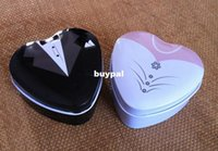 Cheap Bride groom Mint tin wedding favor box 150PCS LOT dressed to the nines wedding candy boxccc1