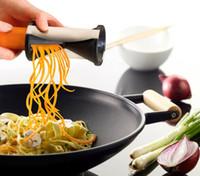 Wholesale Vegetable Fruit Spiral Shred Process Device Cutter Slicer Peeler Kitchen Tool Slicer spirelli spiralizer julienne cutter