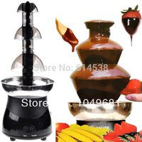 Wholesale Stainless Steel Durable Heat Resistant Plastic Layer Chocolate Fountain Fondue Max L Auger Motor Large Size