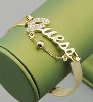 Wholesale 2015 New Fashion Crystals Bracelet Gold Silver Charm Bracelets Bangles For Women Fashion Jewelry Wristband