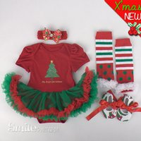 baby pettiskirt set - baby girl kids infant toddler christmas outfits sets lace romper dress tutu skirt pettiskirt bow headband chiffon legging shoes red