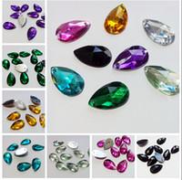 Wholesale 1000pcs set x18mm Flat Back Mixed Teardrop Shape Sew On Rhinestones Sewing Accessories Jewelry Findings Jewelry DIY