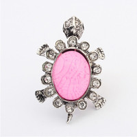 antique oval ring setting - Rings Fashion Jewelry Vintage Women Personality Colors Oval Resin Antique Silver Plated Alloy Turtle Cluster Rings Adjustable SR313
