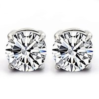 Wholesale New Arrival Crystal Earrings Stud Luxury Austria Crystal Sterling Silver on Platinum Plated Jewelry Wholessale OE55
