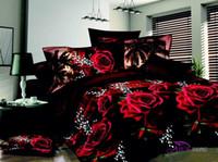 beautiful pillowcases - Home textile Bedclothes Bed linen bed set D Bedding Sets Duvet Cover Bed sheet Pillowcase Beautiful Flower