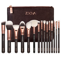 beauty pouch - Zoeva Rose Golden Complete Set Vol Brushes with pouch bag Beauty Makeup Blender DHL Free
