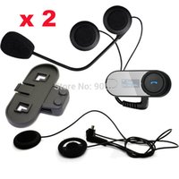 Wholesale sets of TCOM SC W Screen Bluetooth Motorcycle Motorbike Helmet M Intercom Headset Soft Earpiece Bracket