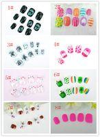 Wholesale Children s false nails abstract animal motifs of nail art products nail