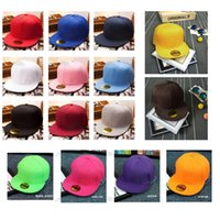 blank baseball caps - 2015 Hot Fashion Blank Plain Snapback Hats Hip Hop Adjustable BBoy Baseball Cap Multi Color