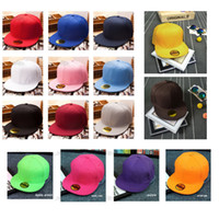 blank baseball caps - 2016 Hot Fashion Blank Plain Snapback Hats Hip Hop Adjustable BBoy Baseball Cap Multi Color