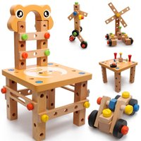 Wholesale Multifunctional chair assembly tool screw nut car lubanjiang chair baby stool educational toys bottled