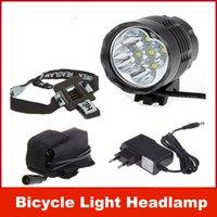 Head Lights lumens - 5 x Cree XM L T6 T6 Lumens In LED Modes Bike Light Bicycle Front Lamp Headlight Headlamp V Battery Pack
