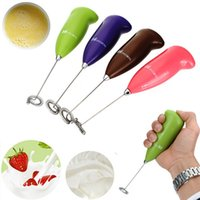 Wholesale 1pcs Kitchen Electric for Egg beater Tool Handle for Egg beater Milk Drink Coffee Shake Frother Whisk Mixer Foamer
