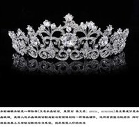 antique hair pieces - Silver Tiaras Crowns Bridal Korea Head Wedding Hair Pieces Flower Crown Jewelry Headpiece Rhinestones Crystal Real Image