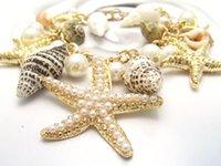 Cadeaux océan multi Starfish Sea Star Conch Shell perles de la chaîne Plage de Bracelet Trendy de Noël pour femmes