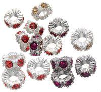 Wholesale Big Hole Charm Bead Wave Pattern Rhinestone Fit Pandora Bracelets