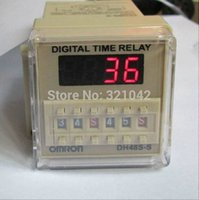 Wholesale DH48S S Digital Timer Time Delay Relay V V V AC V V DC S H M Pins with Base Socket
