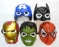 Bauta Mask america lights - The Avengers LED Glowing Lighting Mask Superman Hulk Captain America Batman Spiderman Ironman Party Mask Boys Gifts