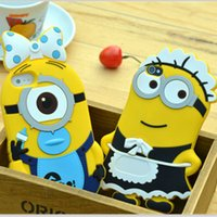 baby iphone case - Christmas D cartoon Despicable Me housemaid case Phil Minions Minion baby soft Silicon cases cover for iphone S S Plus hot