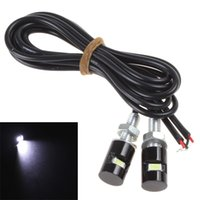 Wholesale a pair of V White x SMD LED Light Motorcycle Car License Plate Screw Bolt Lamp Bulb CLT_097