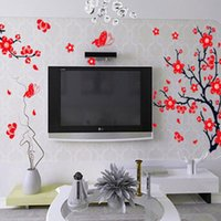 best plum trees - Beautiful Design Best Promotion Removable Plum Flower Tree Vinyl Art Wall Stickers Decal Decor Living Room For Decoration