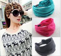 Cheap 2015 New variety of wear method Cotton Elastic Sports Wide women Headbands for women hair accessories turban headband headwea JIA127