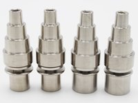 Wholesale 10 mm in adjustable Highly Educated Grade Titanium Domeless E Nail Nail for mm or mm Enail Coil