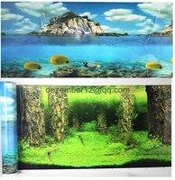 aquarium tank pictures - 50cm cm High Double Sided Aquarium Background Landscape Poster Fish Tank Background Picture Wall Decor NEW