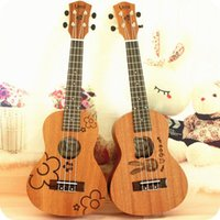 Wholesale High quality quot mini size Homeland Laminated Sapell catoon wood Soprano String ukulele Acoustic Instrument ukelele