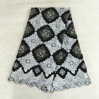 african cloth patterns - yards High cotton cloth black and white lattice with flower pattern african lace fabric Swiss voile lace for dress BC20