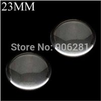Wholesale 50 Pieces mm Clear Glass Cabochon inch Round Glass Cabs Clear Glass Circles