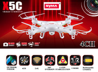 Wholesale Camera RC Helicopter SYMA X5C RC Drone Axis Remote Control Helicopter Quadcopter With MP HD Camera