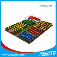 Wholesale MT2015015T Custom made trampolines Bungee Trampoline Customization attractive outdoor homemade playground equipment