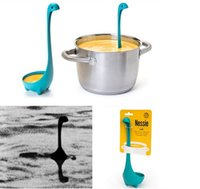 Wholesale Ladles Kitchen Home Gifts Colander Spoon Funky Design Nessie Monster Spoons Fork