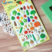 Wholesale Home Decor South Korea Sent Straight Three Dimensional Sponge Stickers Funny Albums Decorative Vegetable Season