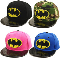 Wholesale New Fashion Batman Baseball Caps Wome Men Cute Kids Adult Unisex Cosplay Hats Green Free Size Best Gifts