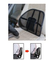 Wholesale comfortable waist support Car Seat Cover Sofa Cool Massage Cushion Lumbar Back Brace Pillow Lumbar Cushion