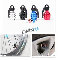 Wholesale new and high quality Cool Aluminium Matel Bike Air Valve Tube Cap Bicycle Tire Wheel Grenade Shape