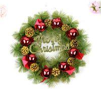 Outdoor Christmas Decoration wreath supplies - Christmas Wreath Door Hanging Trim Hotel Handmade For New Year Outdoor Decoration Supplies christmas decorations Christmas wreath pinecone