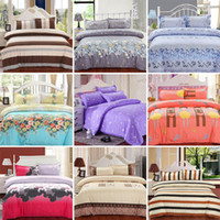 beds - New Printing Bedding Set Fashion Bed Sheet Duvet Cover Pillowcase Winter Cotton Bed Set Comforter Bedding Sets